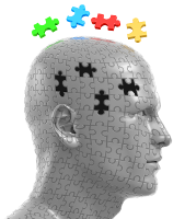 Head as puzzle; licensed image, do not copy